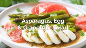 IHC: asparagus, egg, and grapefruit salad